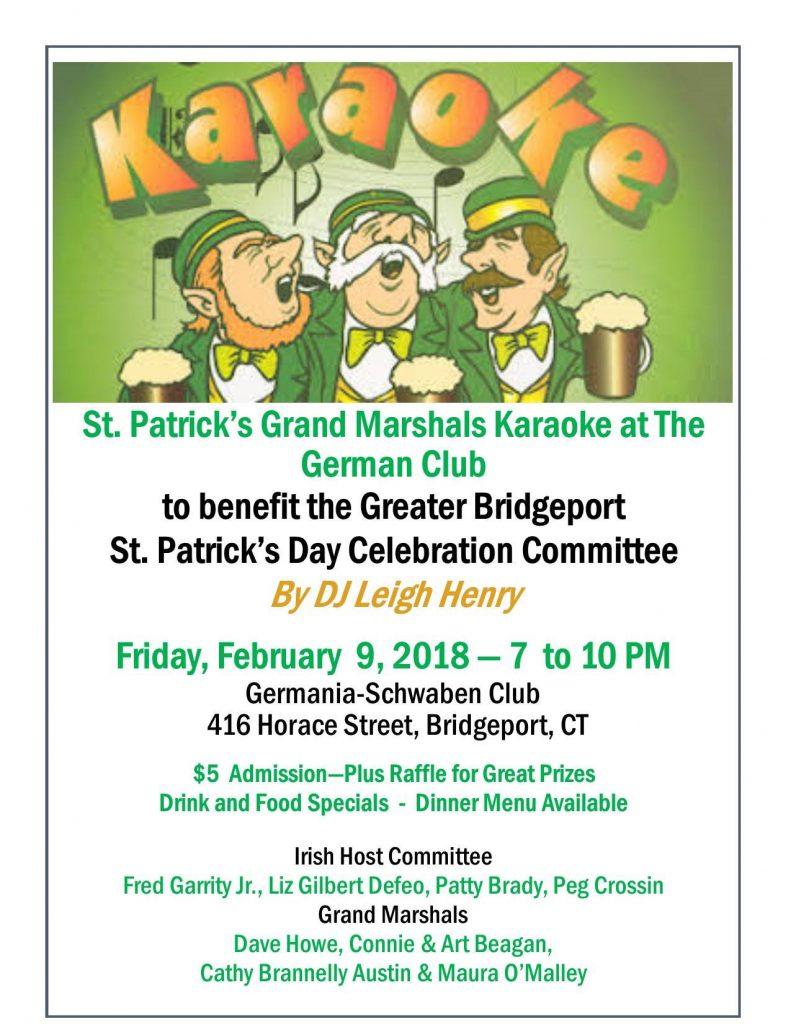 St. Patrick's Grand Marshals Karaoke